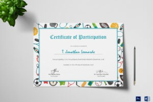 athletic certificate template ppt