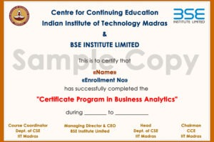 certificate course in business analytics word