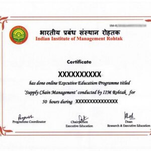 certificate course in logistics and supply chain management word