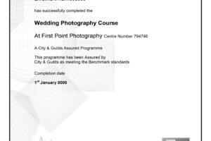 certificate course in photography example