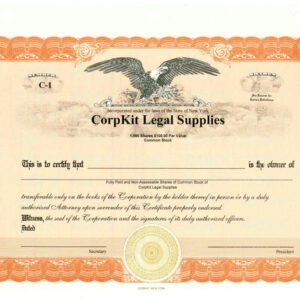corpkit stock certificate template word