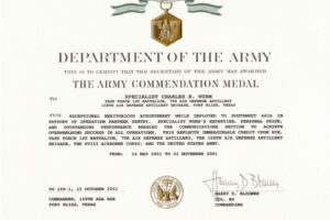 editable army promotion certificate template word