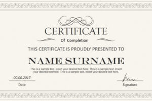 editable certificate template powerpoint download example