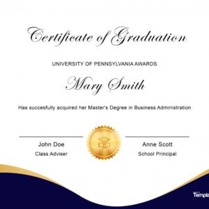 editable college diploma certificate template ppt