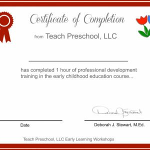 editable early childhood teaching certificate example