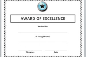 editable student of the month certificate template sample