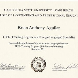 editable teaching certificate with bachelors degree example