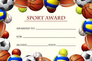free athletic certificate template example