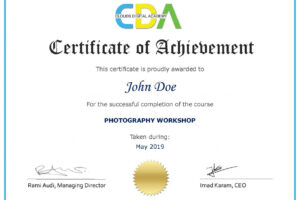 free certificate course in photography pdf
