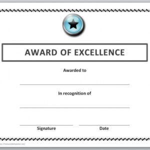 free microsoft office award certificate template example