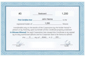 free s corp stock certificate template sample