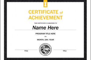 free student council award certificate template ppt