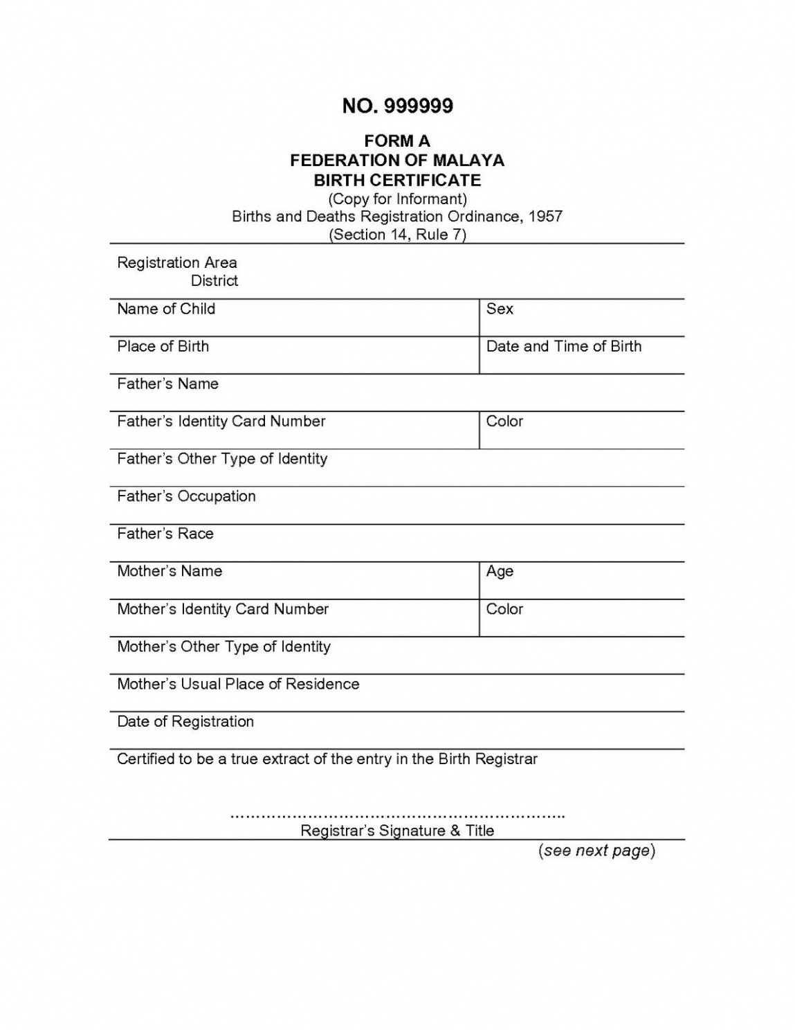 free translation of birth certificate template example