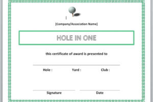 hole in one certificate template example