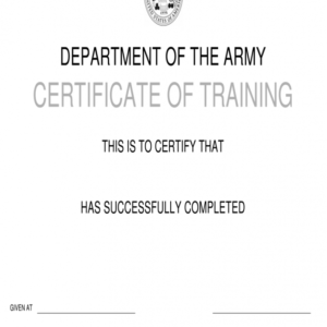 how to get a army drivers training certificate template sample