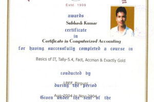 how to get a certificate course in accounting word