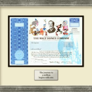 how to get a disney stock certificate template sample