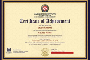 how to get a hospital management certificate course pdf