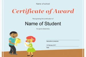 how to get a student of the month certificate template sample