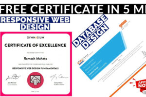 how to make a certificate course in web designing