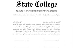 how to make a college diploma certificate template pdf