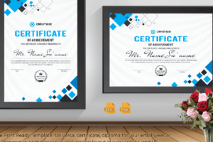 how to make a print a certificate template sample