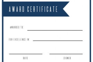 how to make a print a certificate template word