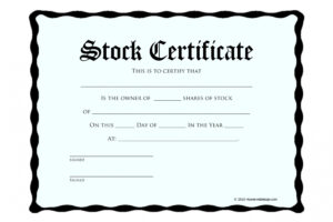 how to make a s corp stock certificate template