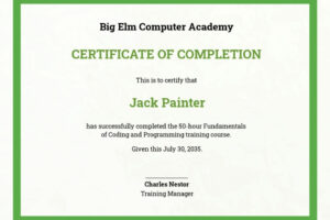 how to make a safety training certificate template pdf