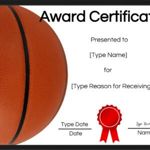 how to make a sport award certificate template pdf