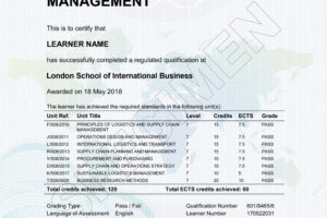 printable certificate course in logistics and supply chain management sample