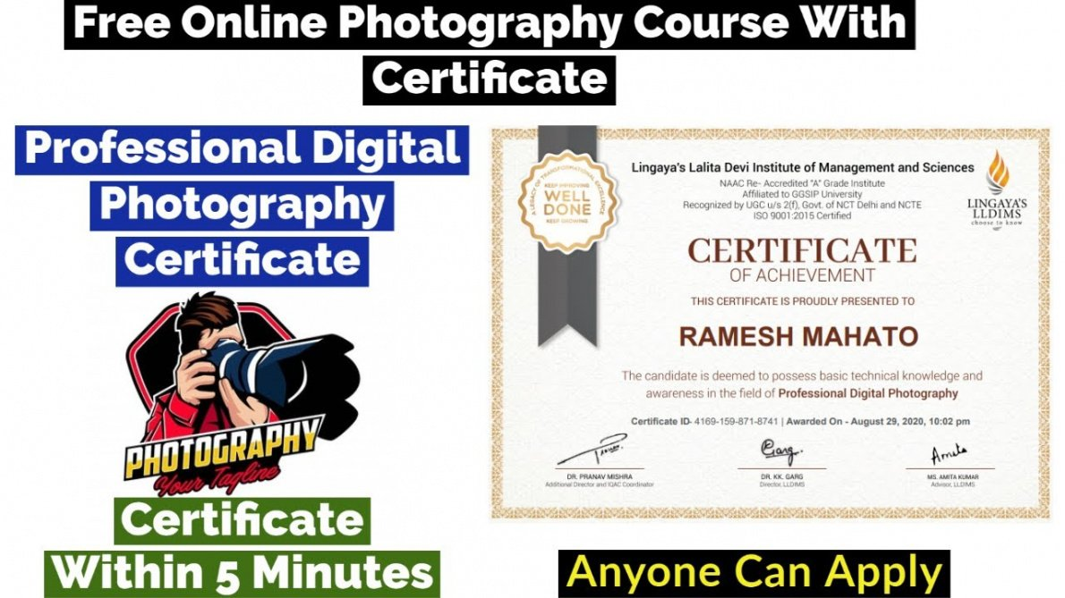 printable certificate course in photography pdf