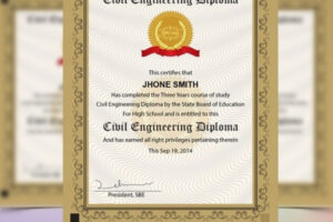 printable college diploma certificate template excel