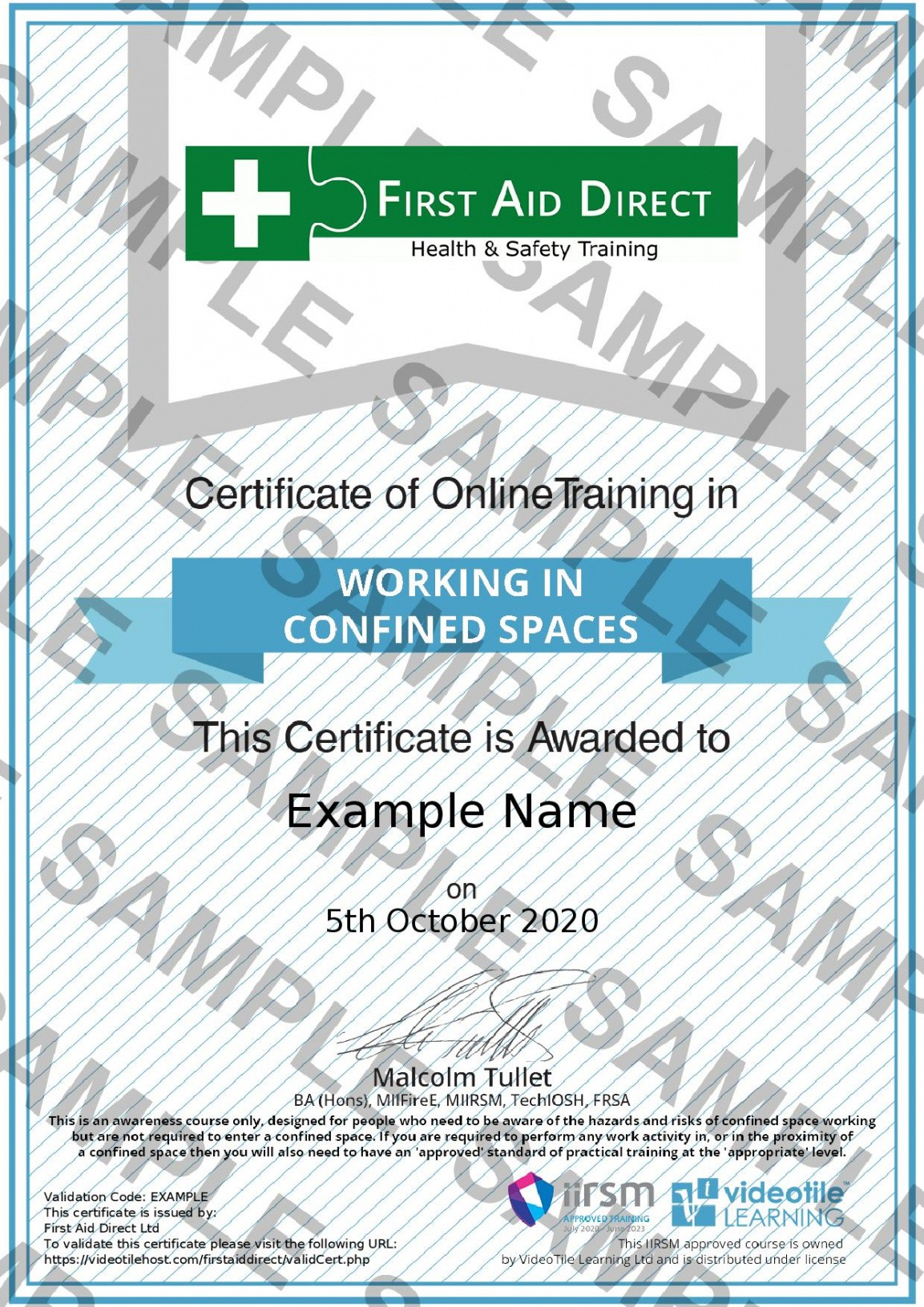 printable confined space training certificate template pdf