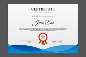 printable design a certificate template ppt