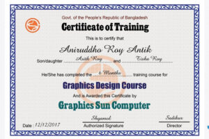 printable graphic design certificate course sample
