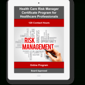 printable health care risk management certificate ppt