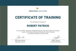 safety training certificate template sample