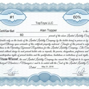 sample back of stock certificate template