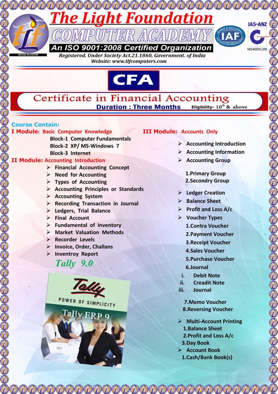 sample certificate course in accounting pdf