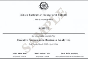 sample certificate course in business analytics ppt