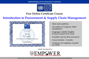 sample certificate in procurement and supply chain management doc