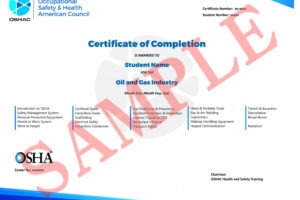 sample confined space training certificate template
