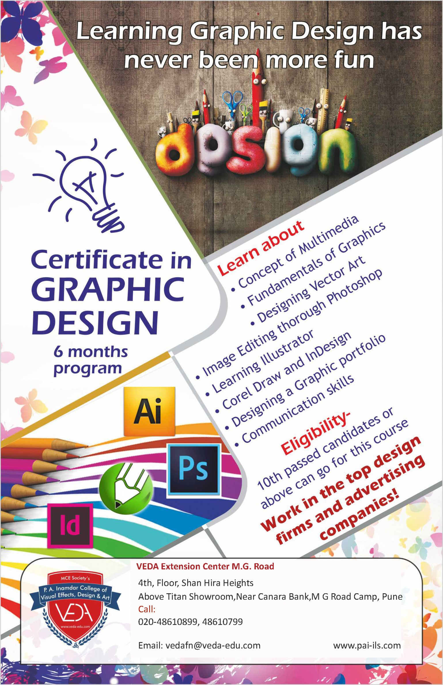 sample graphic design certificate course