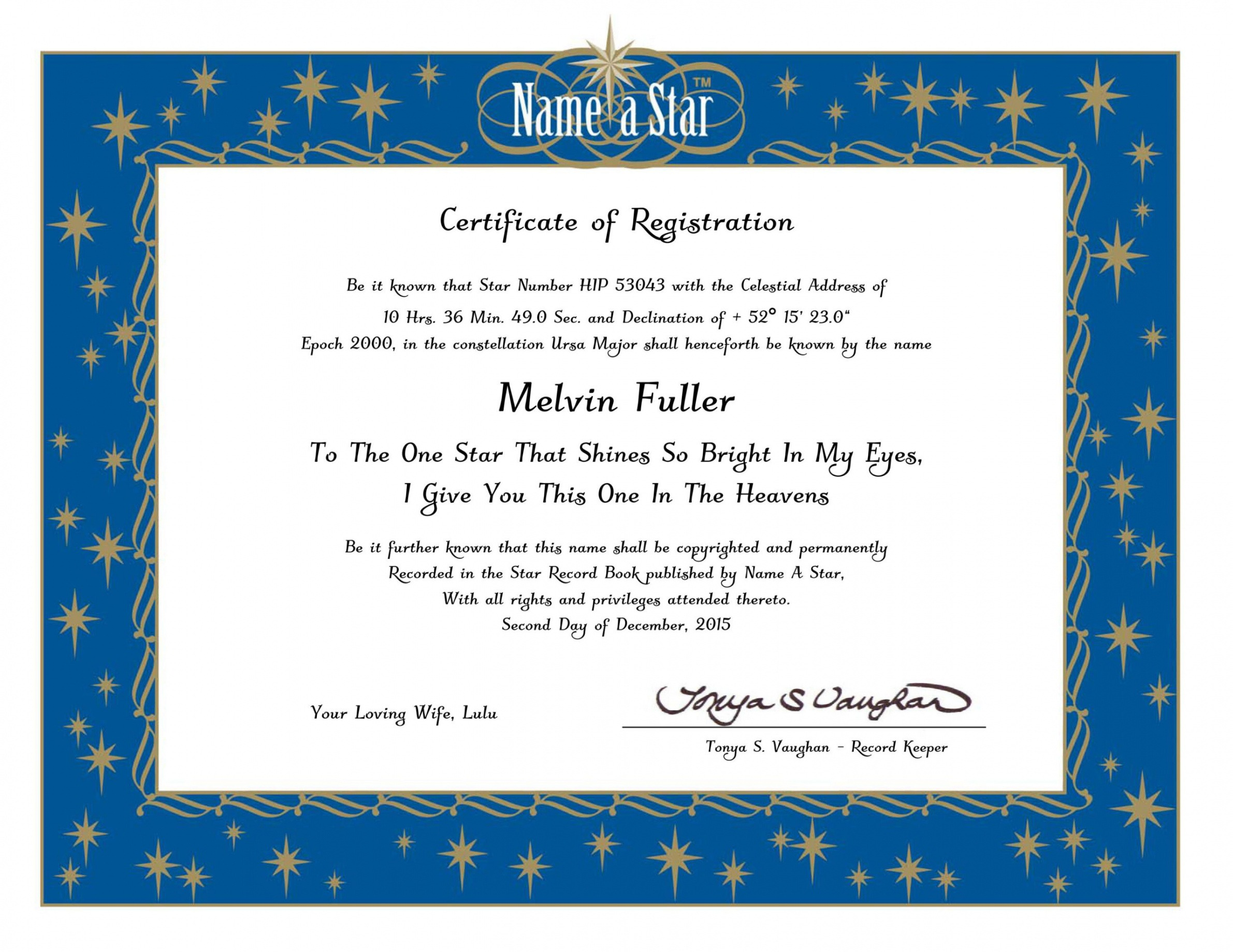 sample name a star certificate template doc