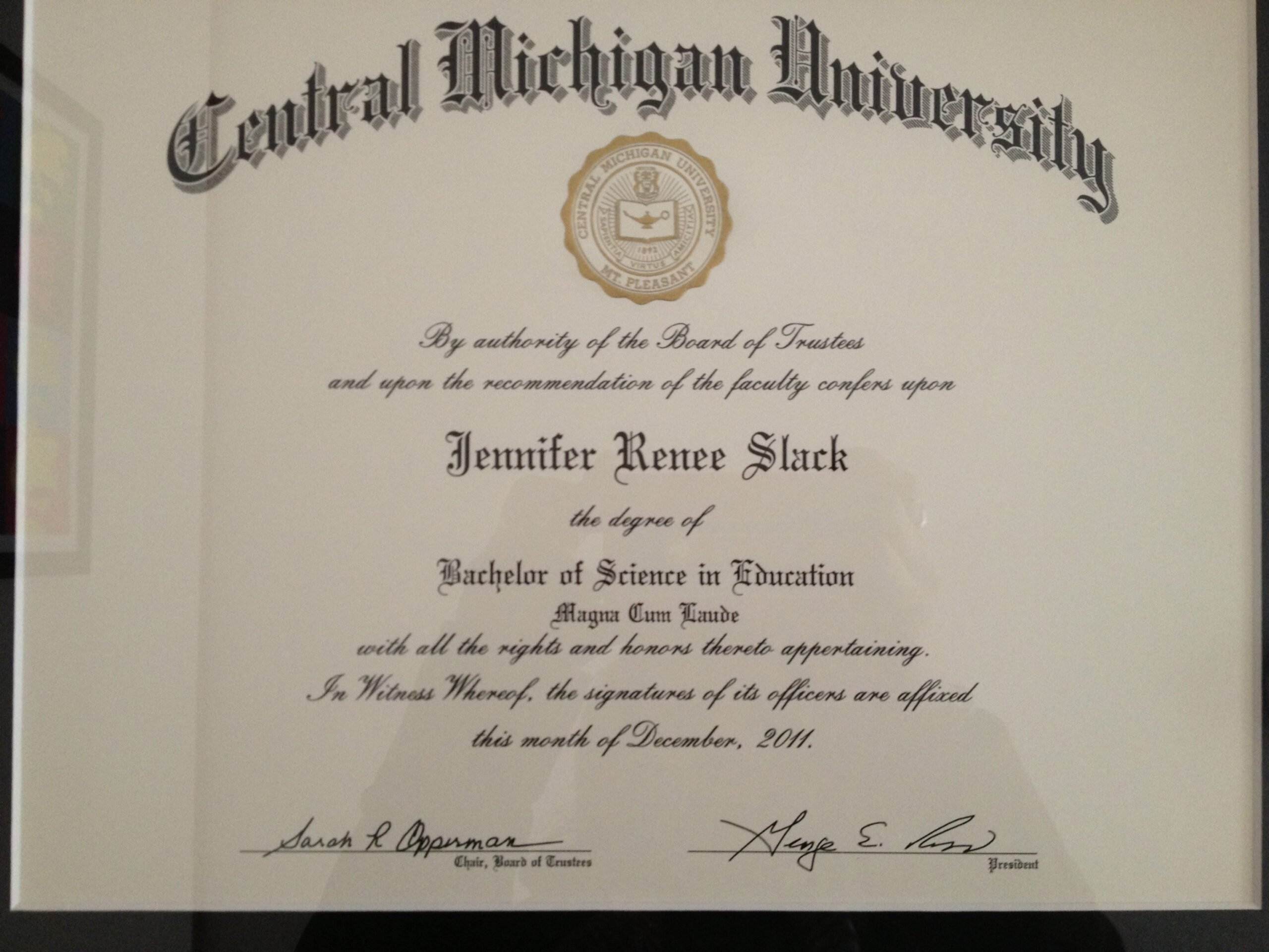 sample teaching certificate with bachelors degree word