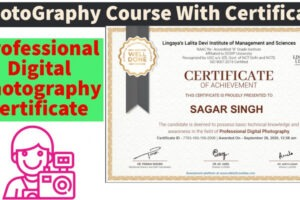 what is a certificate course in photography example