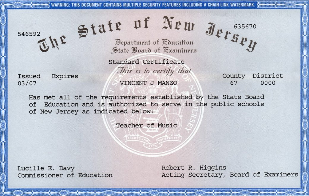 what is a high school teaching certificate excel