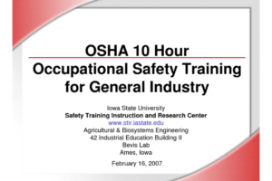what is a osha certificate template sample