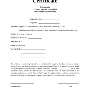 what is a product certificate template sample